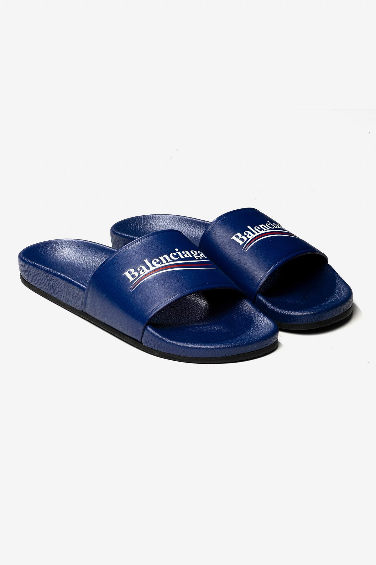 POLITICAL LOGO RUBBER SLIDE SANDALS