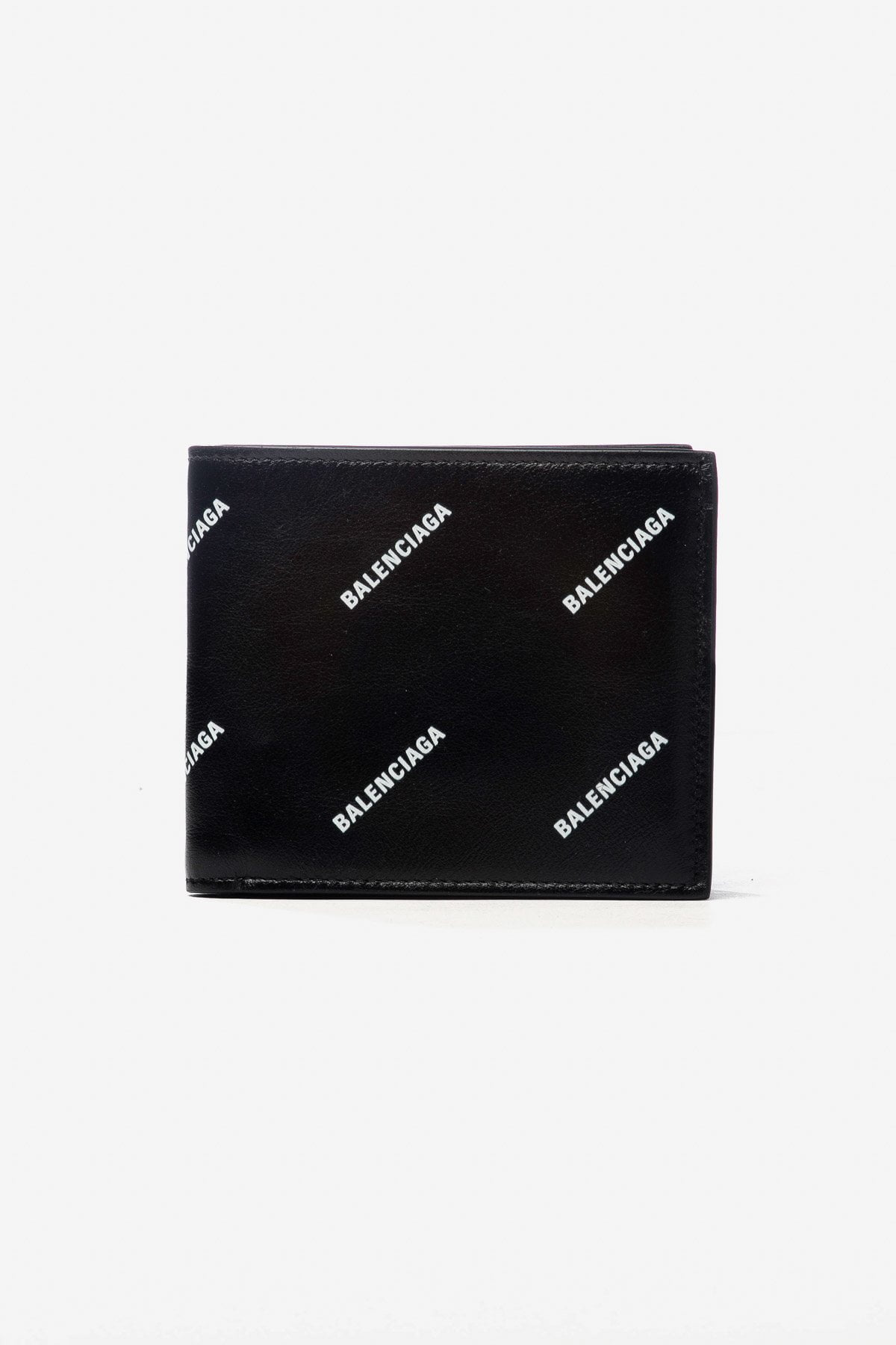 LOGO-PRINT LEATHER BI-FOLD WALLET