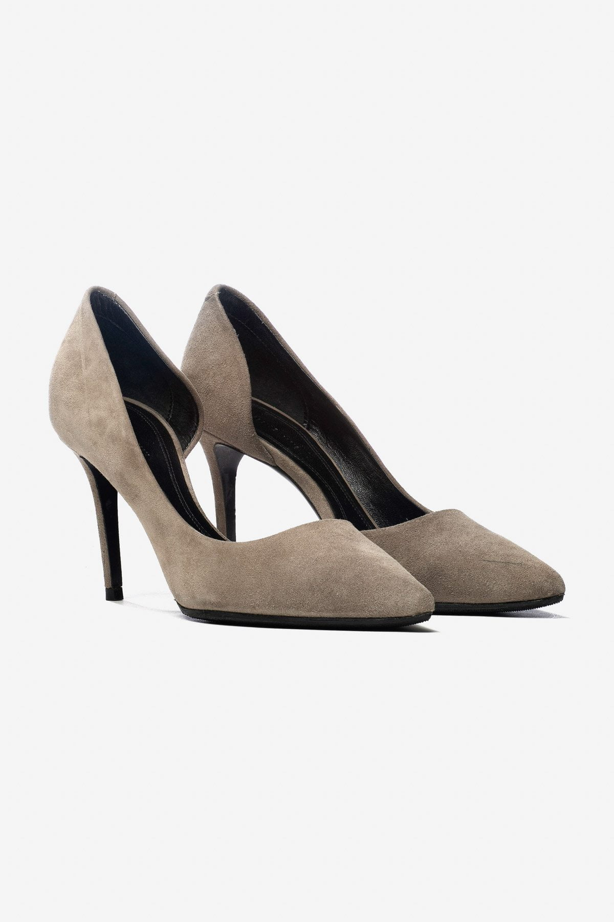 SEMI D'ORSAY SUEDE PUMPS