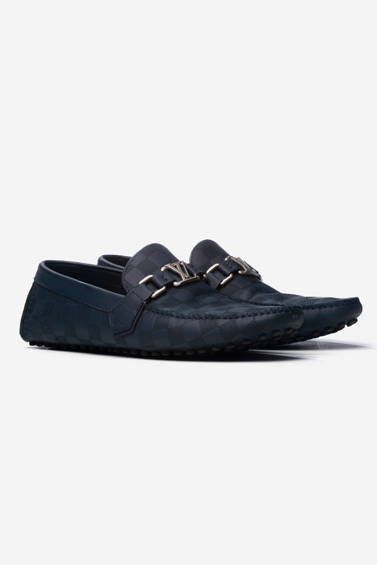 DAMIER INITIALES DRIVING LOAFERS