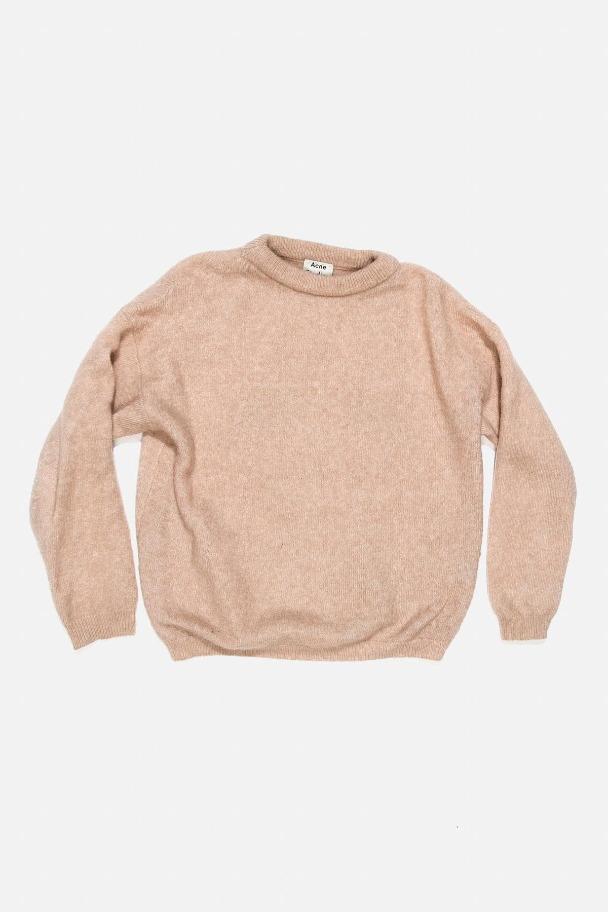 DRAMATIC MOHAIR WOOL SWEATER