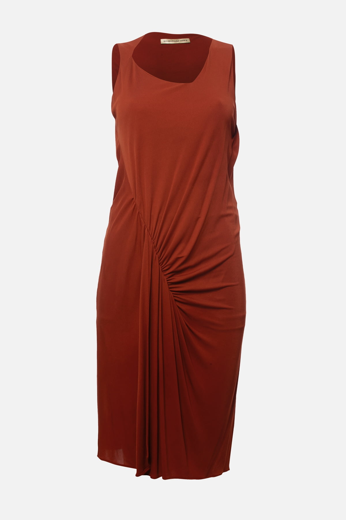 ROUX DRAPED FRONT SLEEVELESS DRESS