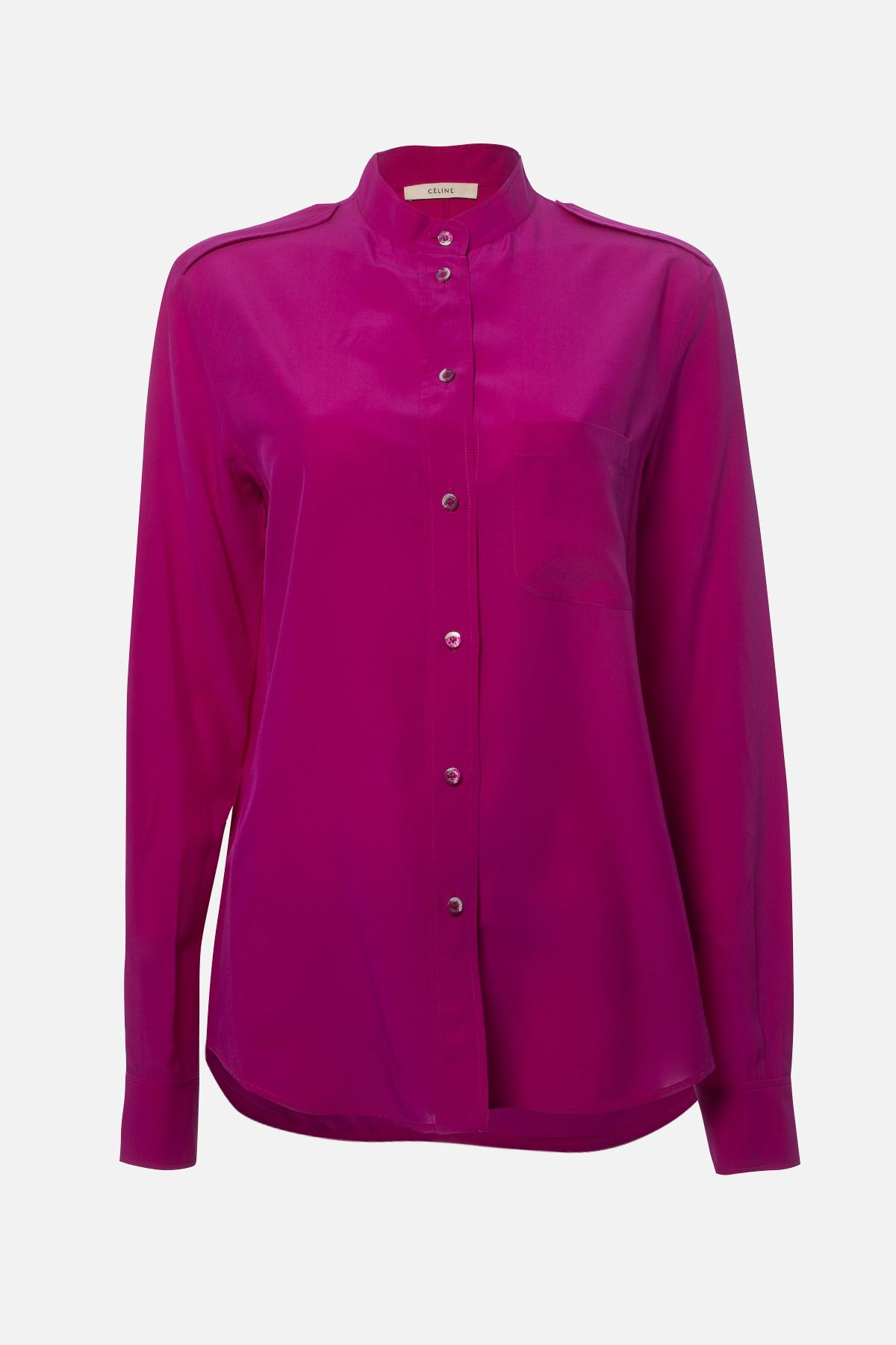 MAO COLLAR SILK SHIRT