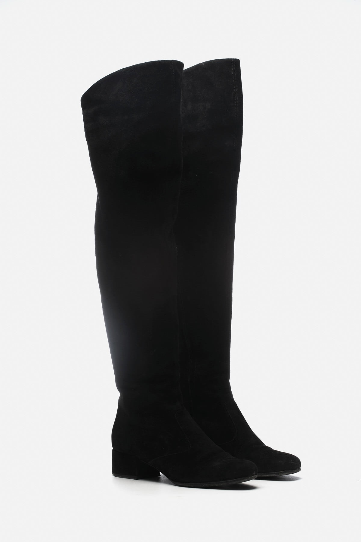 BABIES SUEDE OVER-THE-KNEE BOOTS