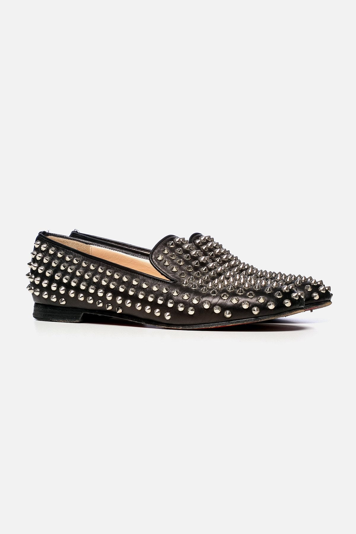 LEATHER SPIKE LOAFERS