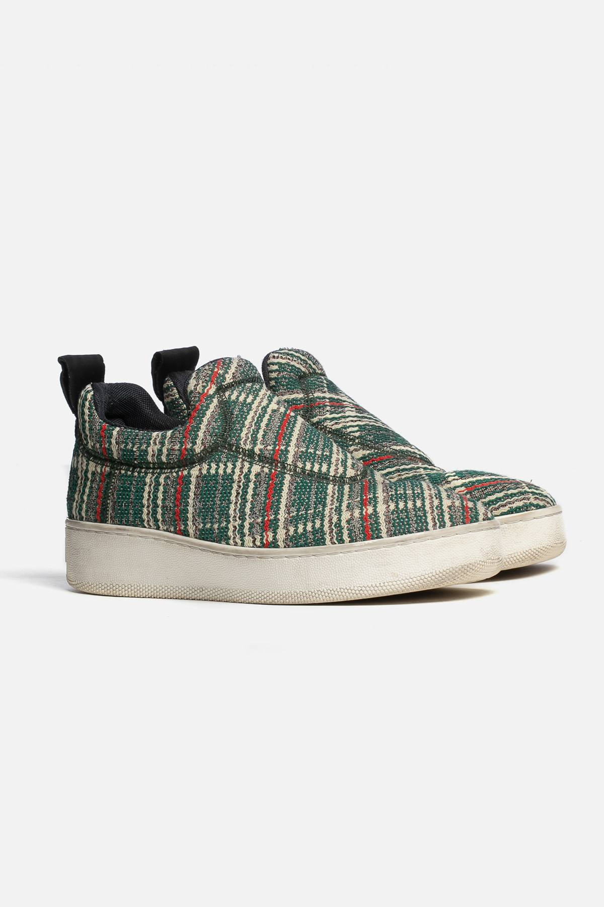WOVEN SLIP-ON SNEAKERS