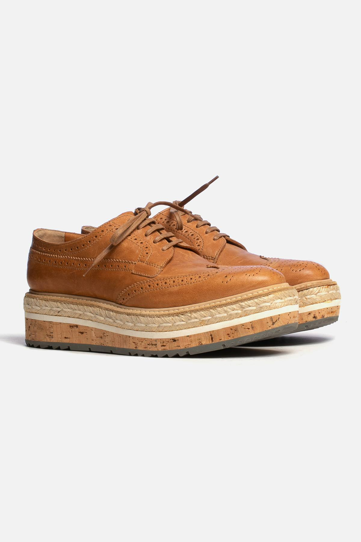 PLATFORM ESPADRILLE OXFORDS