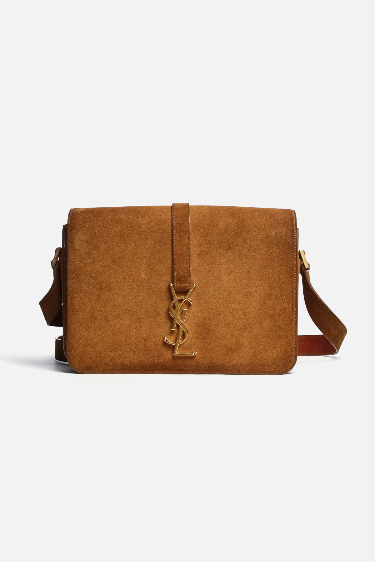SUEDE MONOGRAM CROSSBODY BAG
