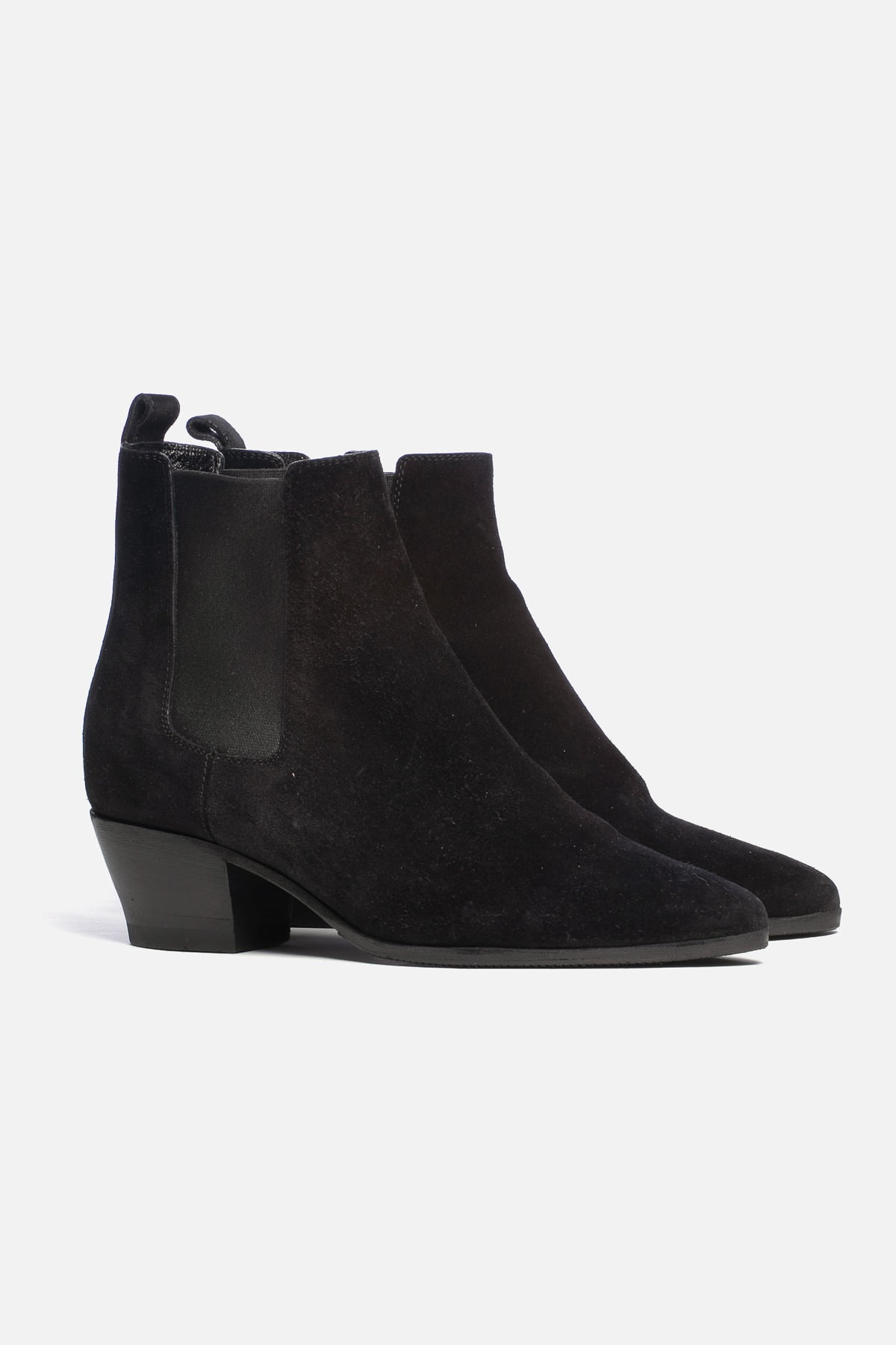 SUEDE POINTED-TOE BOOTIES