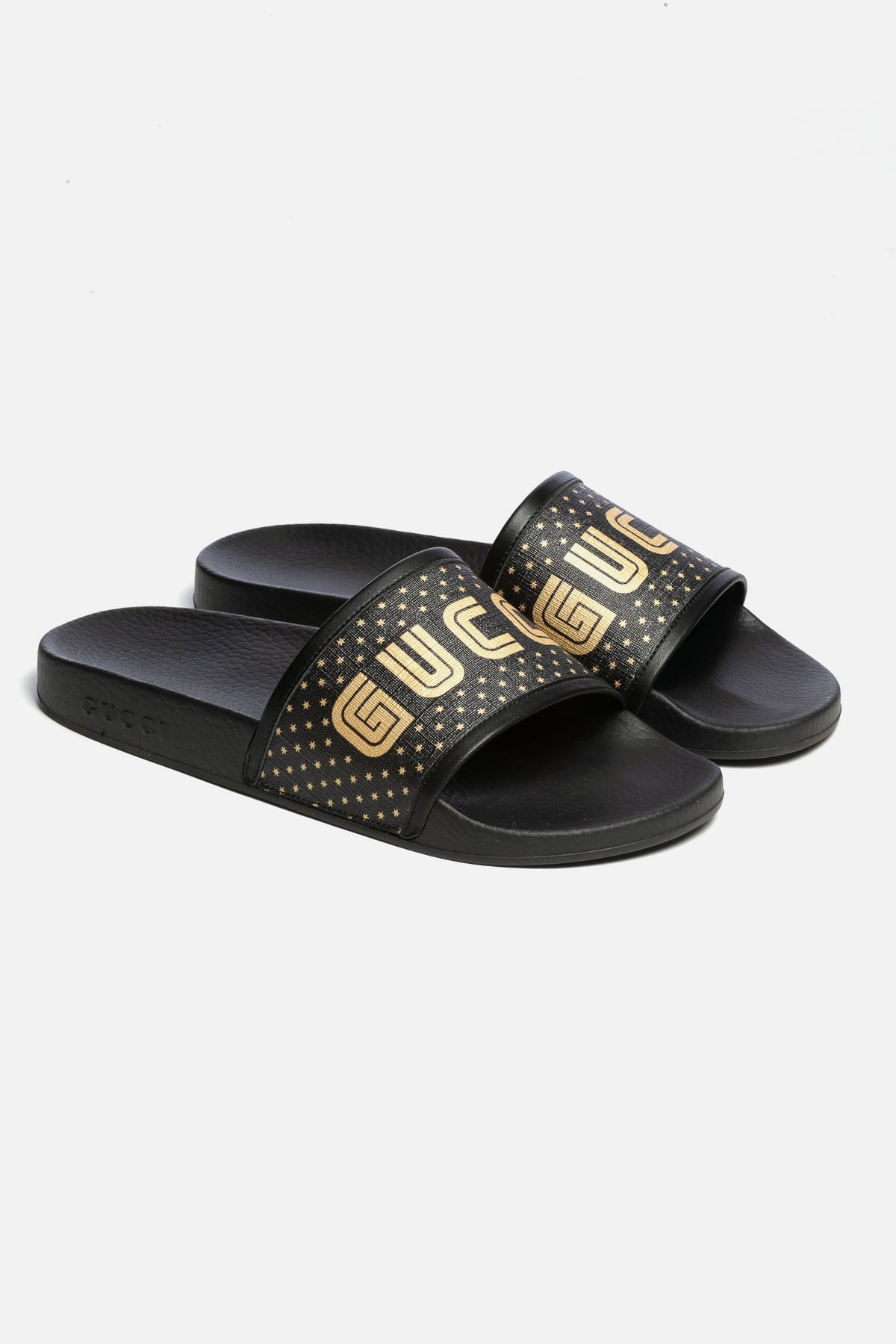 Supreme Guccy Star Leather Slide Sandals