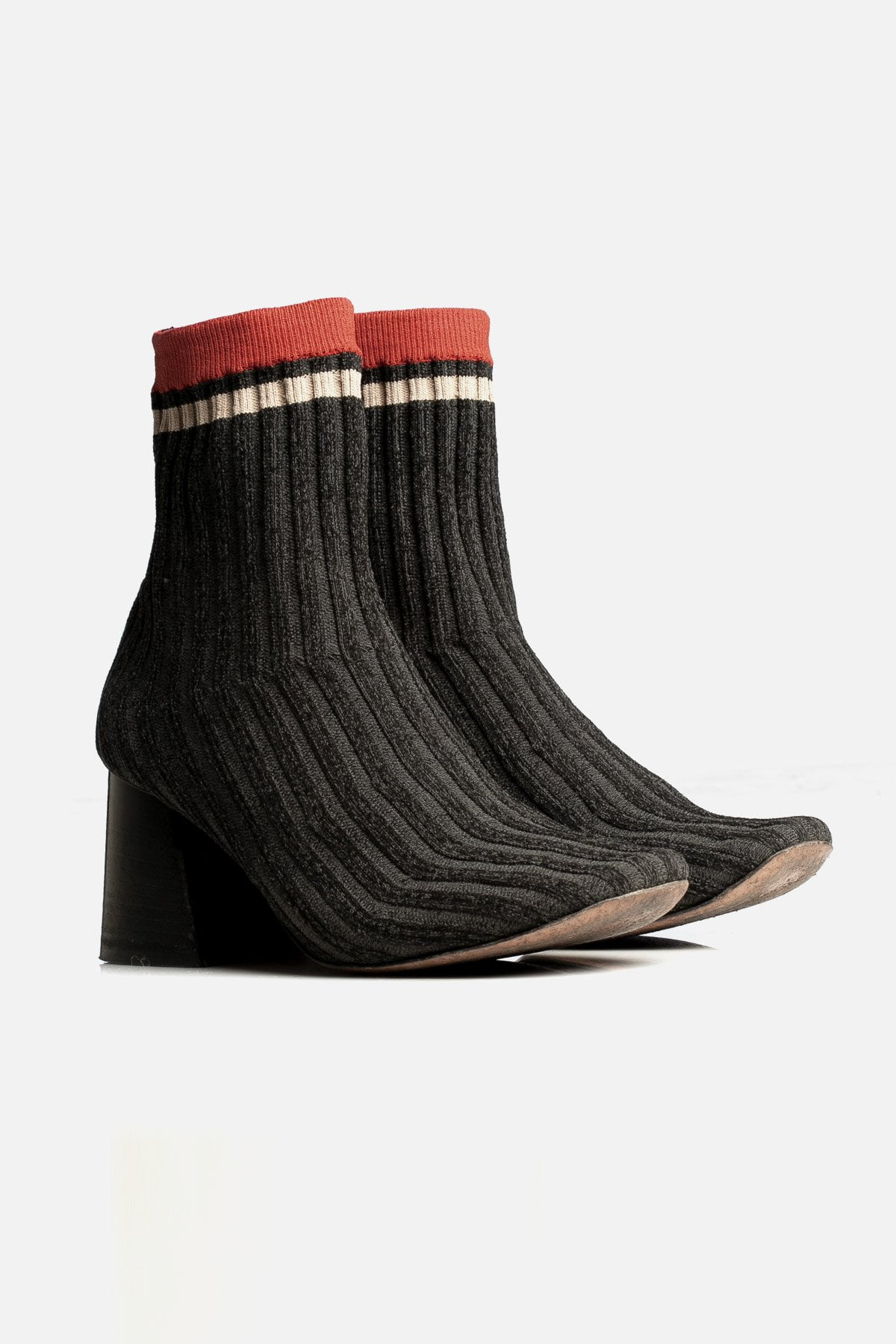 Knit Sock Ankle Boots