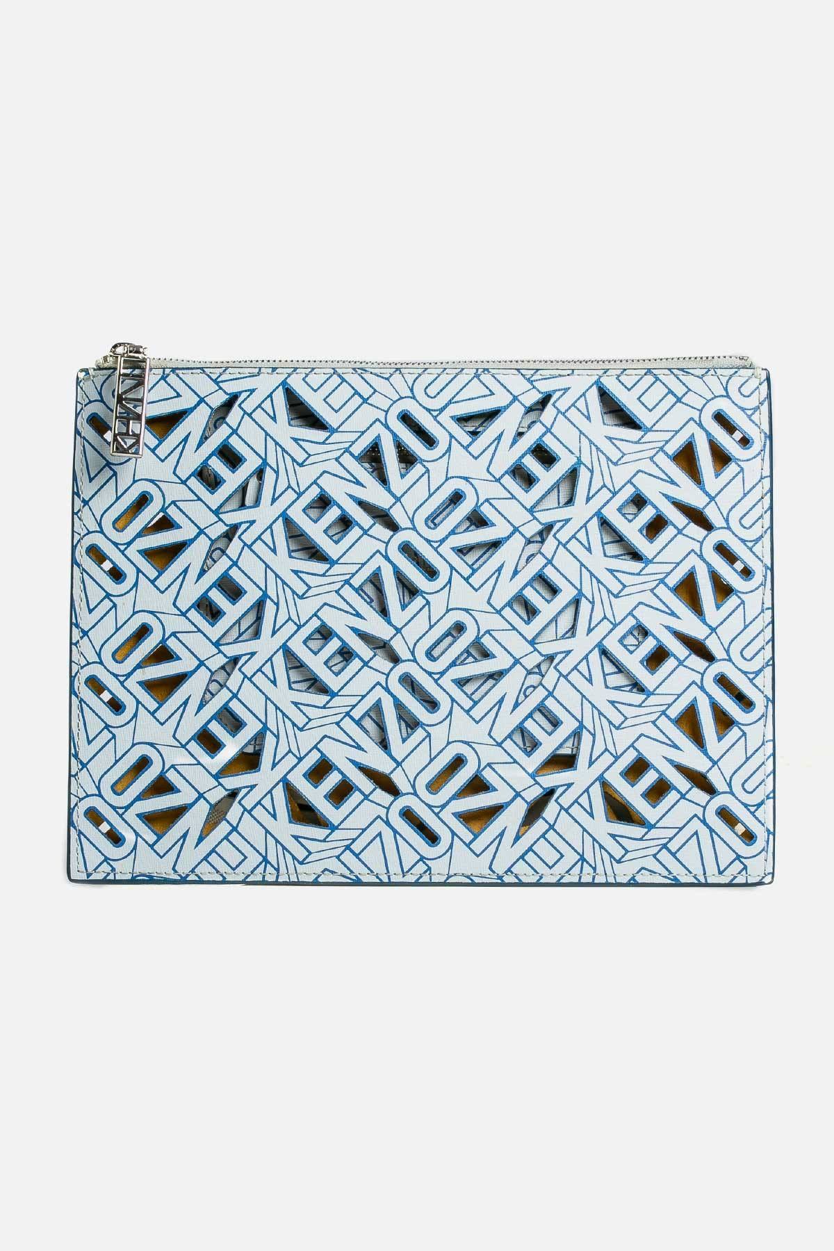Perforated Leather Clutch