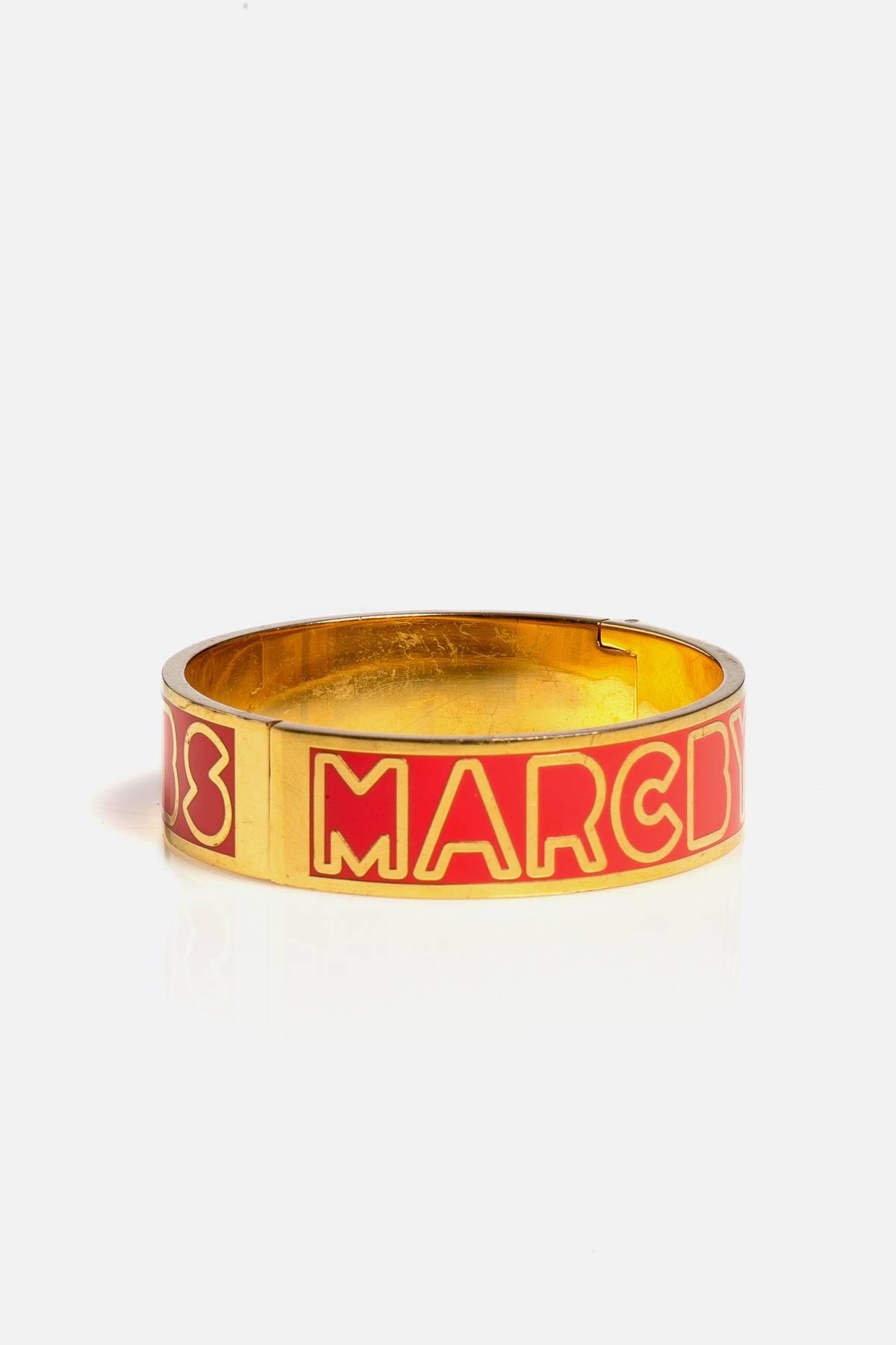 Hinge Enameled Bracelet