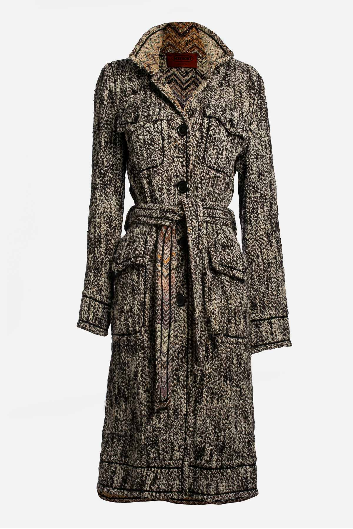 Wool Silk Knit Coat