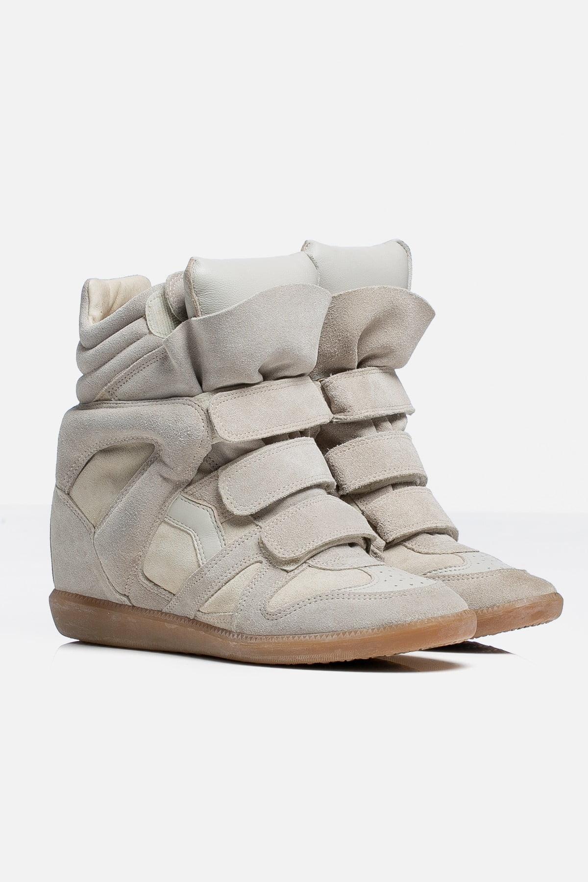 Bekett Suede Wedge Sneakers