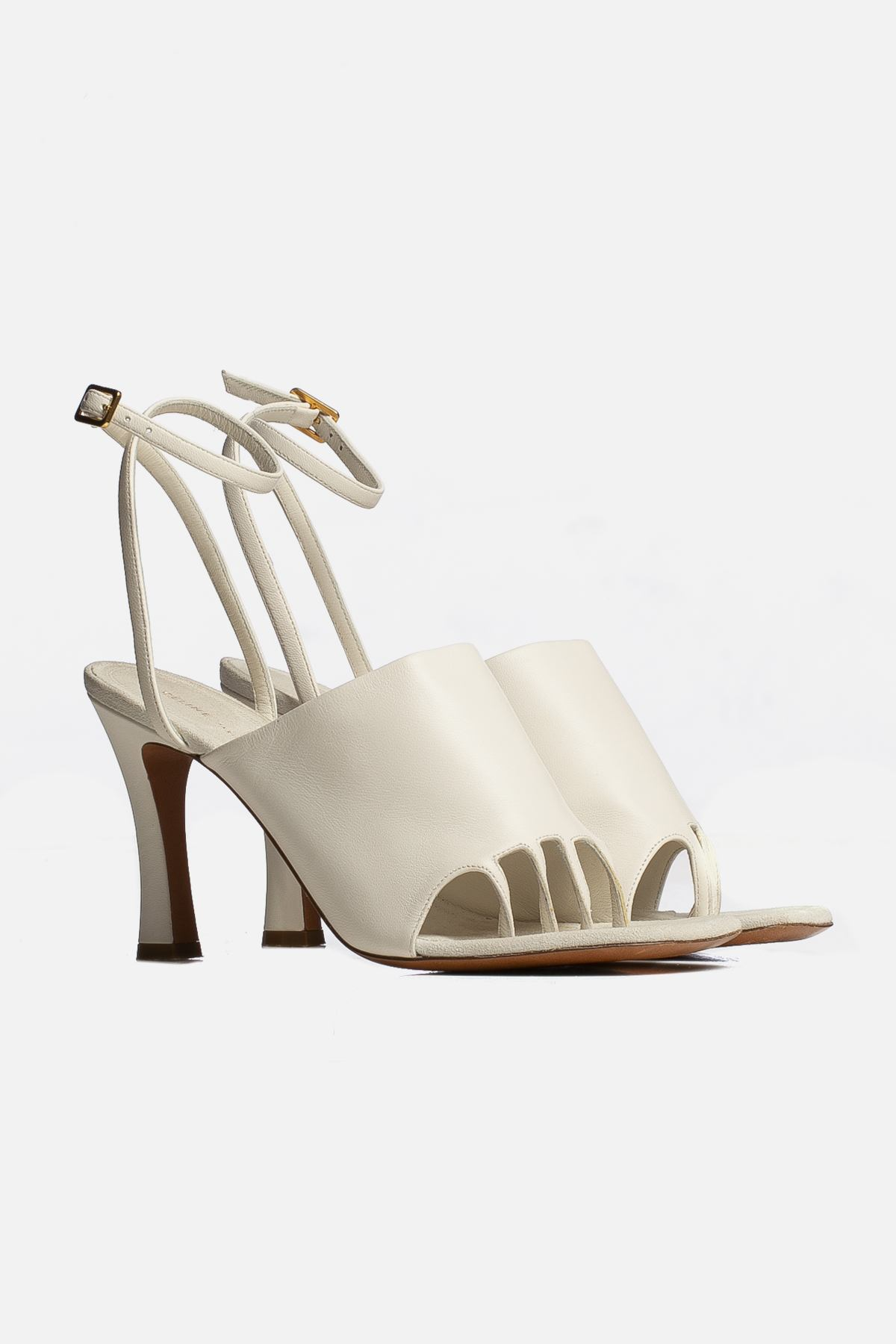 Leather Toe Ankle Strap Sandals