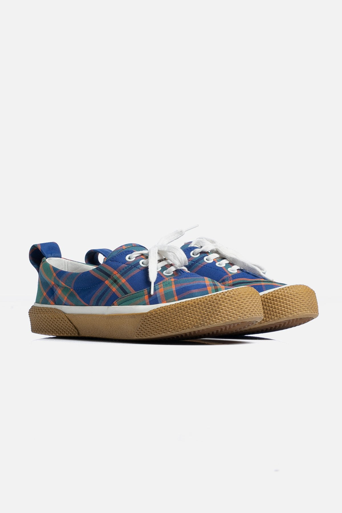 Plaid Low-Top Sneakers