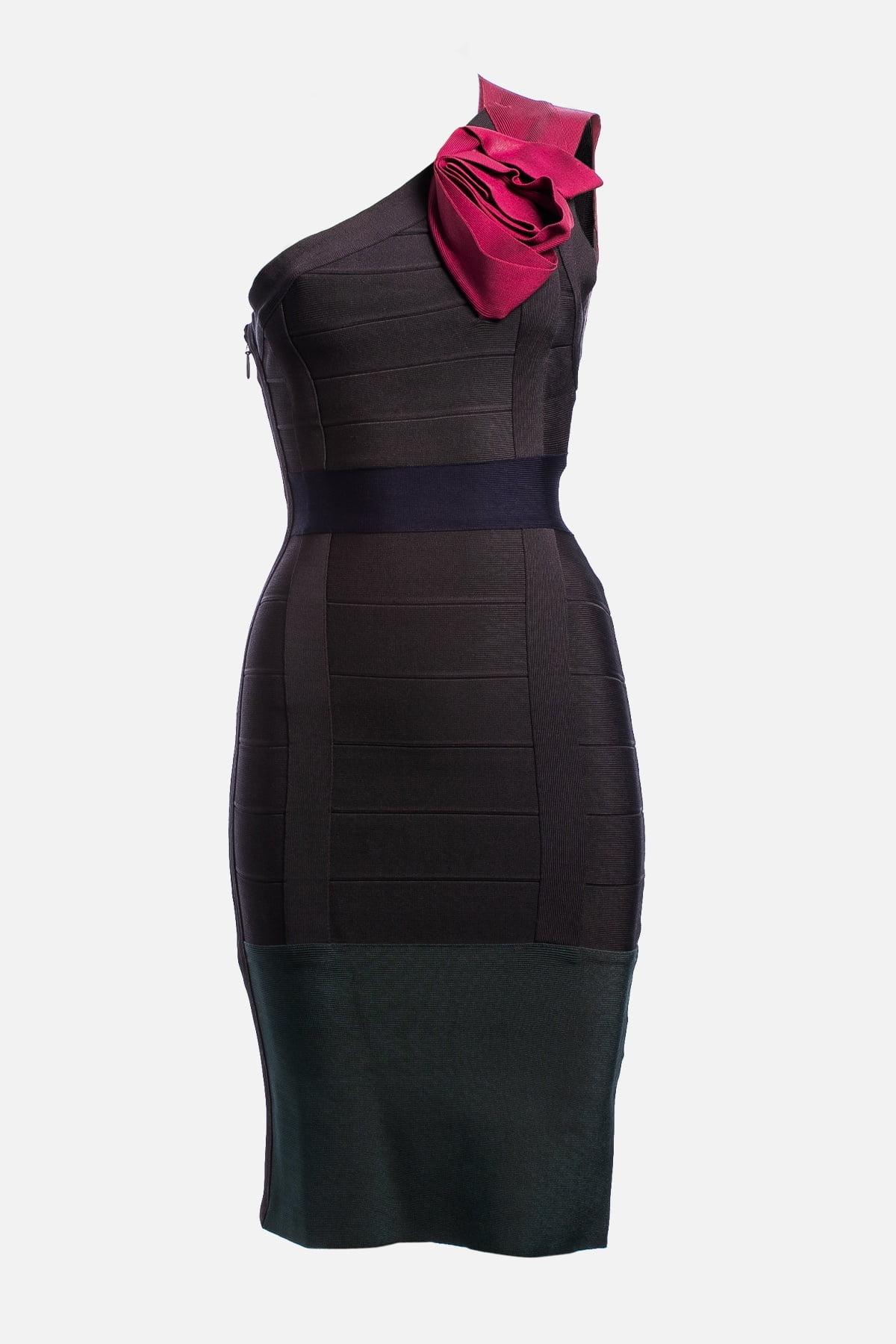Colorblock Pattern Mini Dress