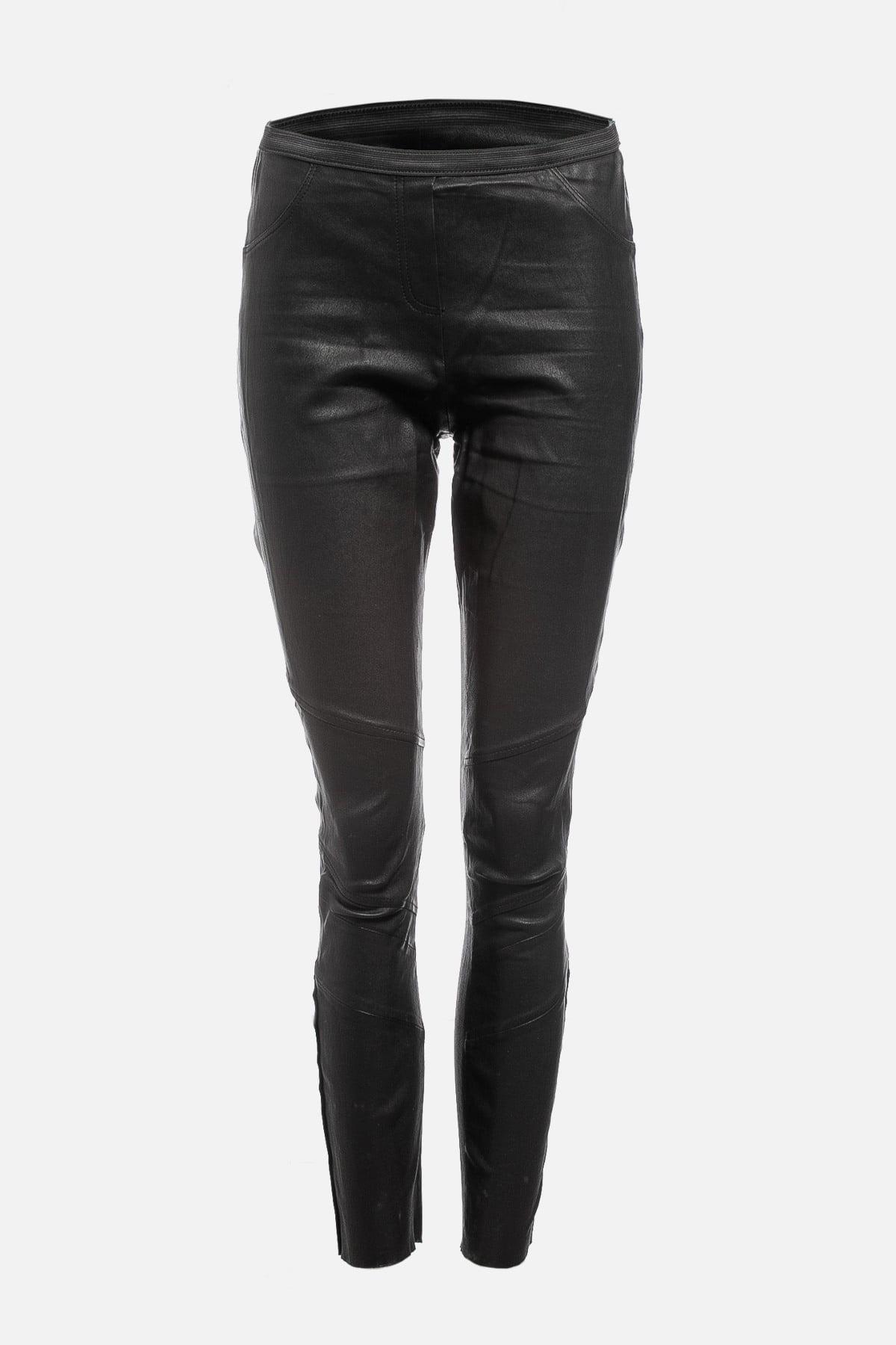 Lamb Leather Skinny Leg Pants