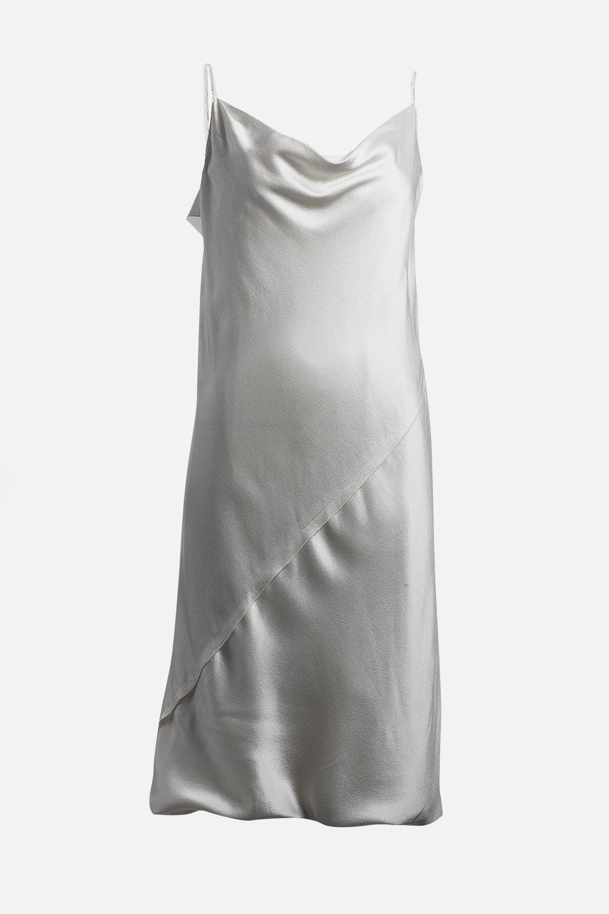 Silk Midi Length Dress