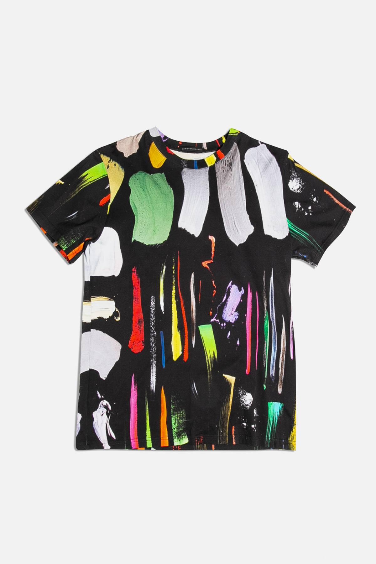 Paint Drip Crew Neck T-Shirt