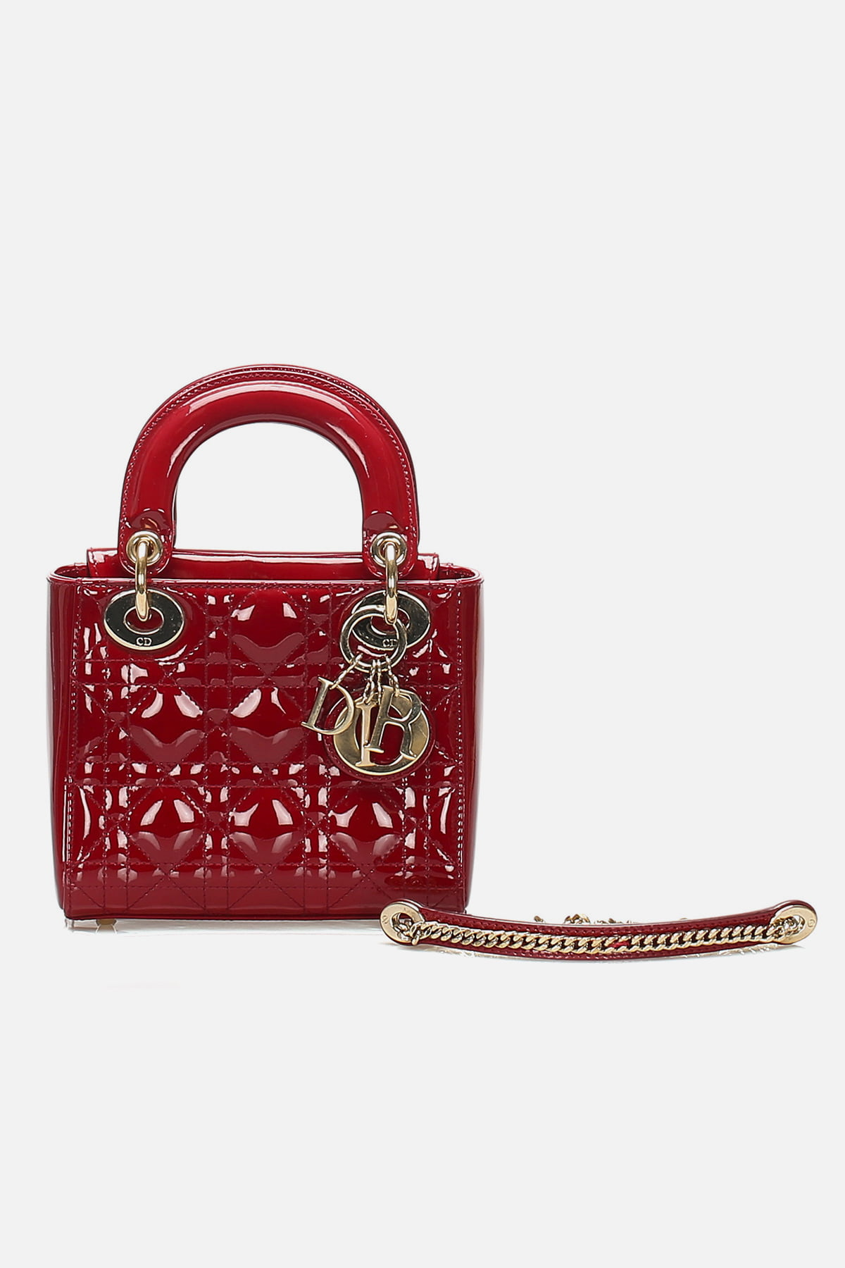 Patent Quilted Cannage Mini Lady Dior Bag