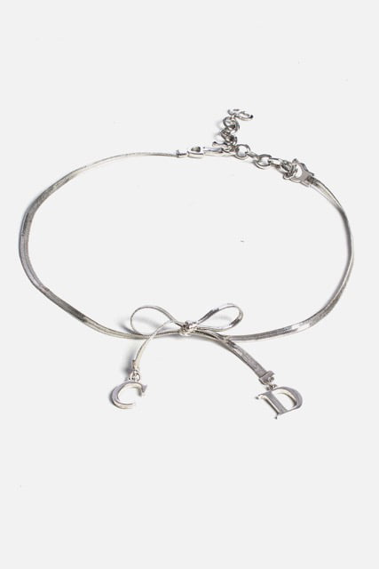 Logo Bow Choker Necklace