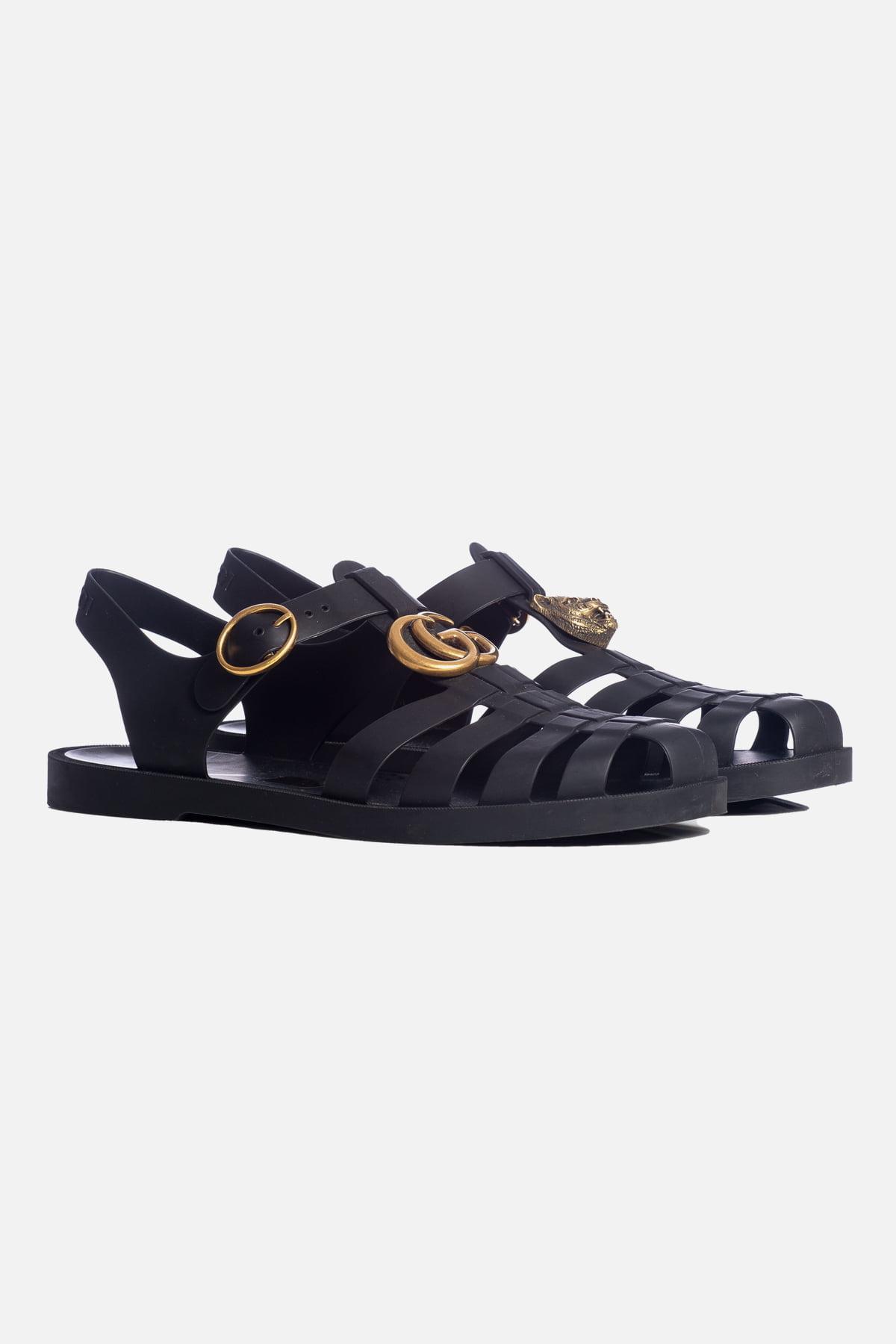 Rubber Buckle Strap Sandals
