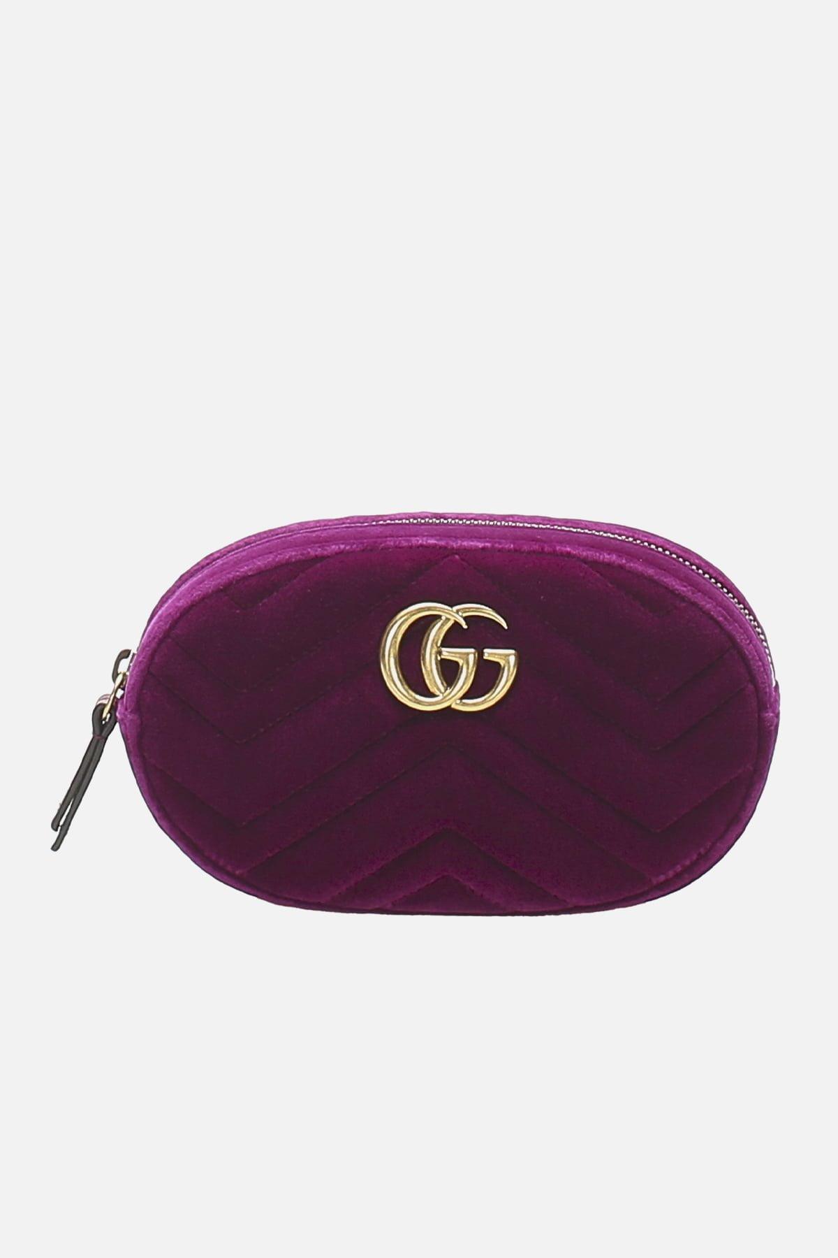 GG Marmont Velvet Belt Bag